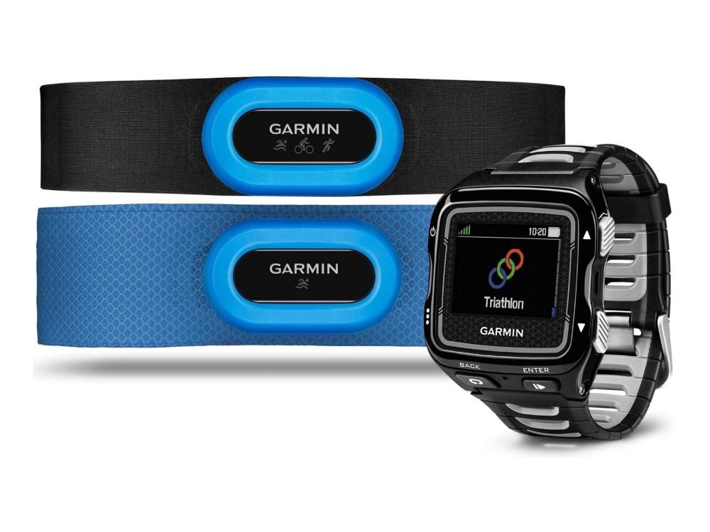 Sportovní hodinky GARMIN Forerunner 920 XT TRI Sportovní hodinky, ANT+, Bluetooth, WiFi, 2 x snímač tepu HRM-Tri a HRM-Swim, GPS, černé 010-01174-41