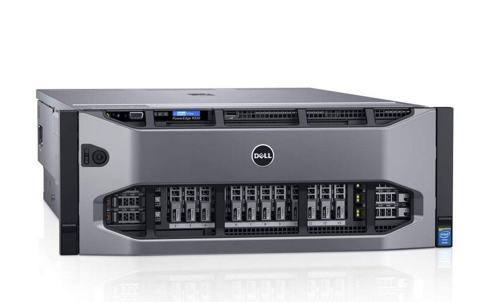 Server DELL PowerEdge R930 Server, 2x Xeon E7-4820 v3, 128GB, 1x 300GB 10k, H730p, 2x 1100W, iDRAC 8 Enterprise, 4U, 3YNBD on-site R930-5720