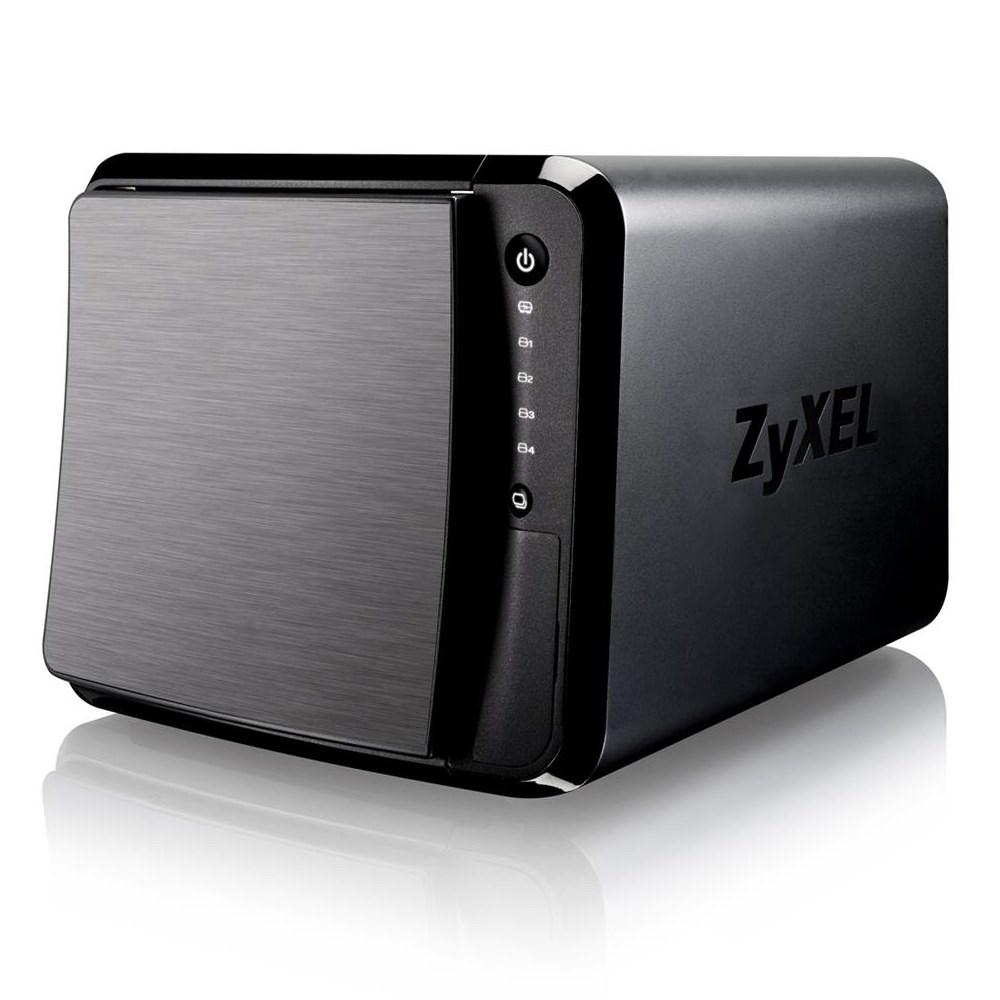 Síťové úložiště NAS ZyXEL NAS542 Síťové úložiště NAS, 4-bay NAS, 1,2GHz CPU, 1GB DDR3, 4x 2,5 i 3,5 HDD, hot-swap, 2x Gbit LAN, 3x USB3.0, SD card NAS542-EU0101F
