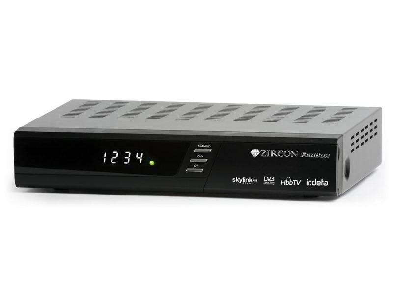 Satelitní přijímač ZIRCON FunBox Satelitní přijímač, HbbTV, Portal funkce, Skylink ready - OPRAVENÉ ZBRE2091V