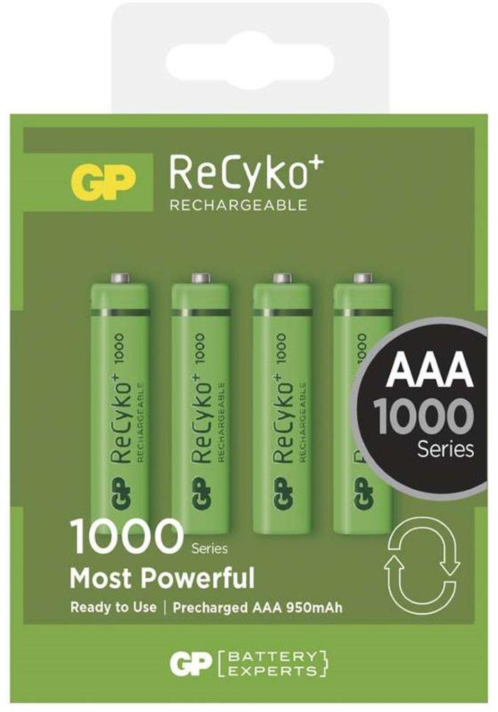 Nabíjecí baterie GP AAA NiMH 1000mAh 4 ks Nabíjecí baterie, 1,2 V, 4 ks, blistr 1032114080