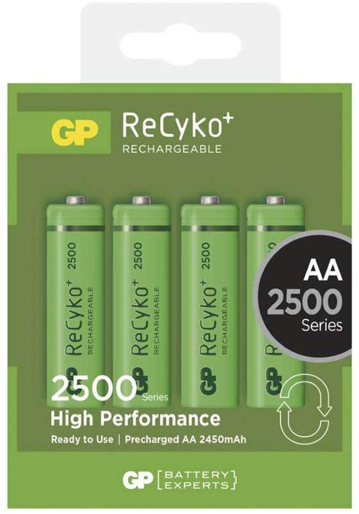 Nabíjecí baterie GP AA NiMH 2500mAh 4ks Nabíjecí baterie, 4 ks, blistr 1032214113
