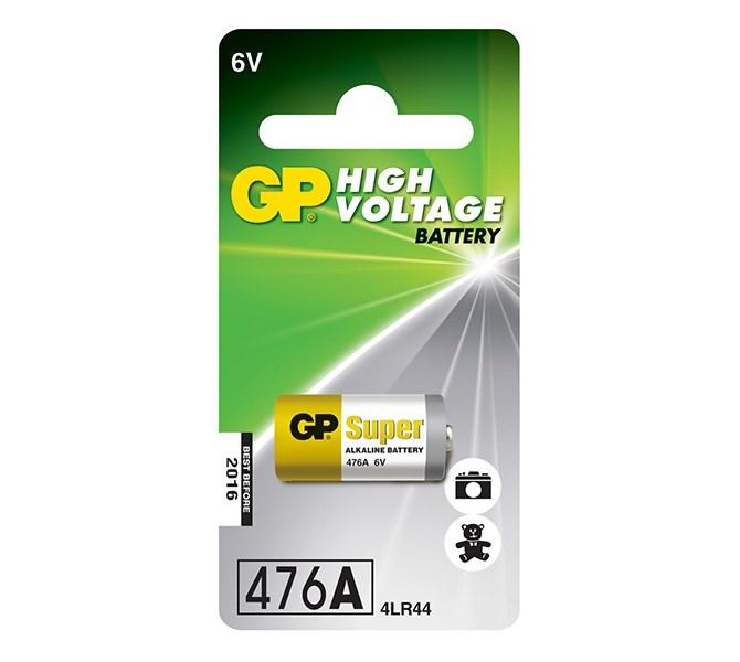 Baterie GP 6V 476A 1ks Baterie, 476A 4LR44, A544, V4034PX, PX28A, alkalická, 105 mAh, 1 ks, blistr 1021047612