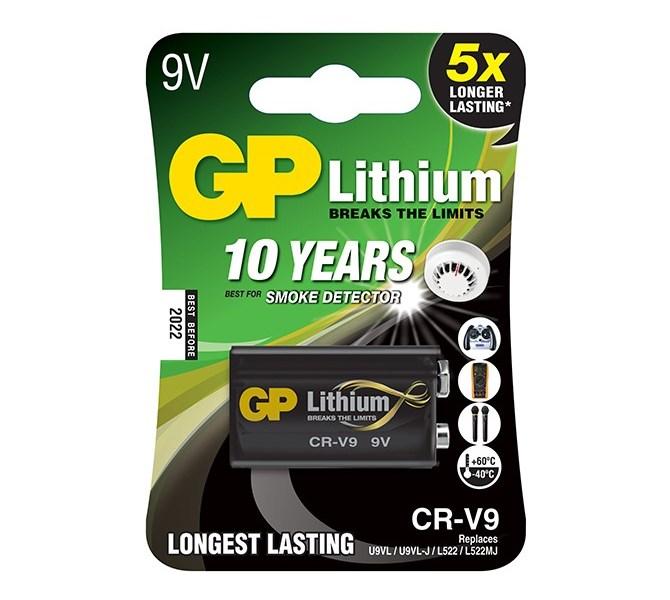 Baterie GP CR-V9 9V 1 ks Baterie, lithiová, 1 ks, blistr 1022000911