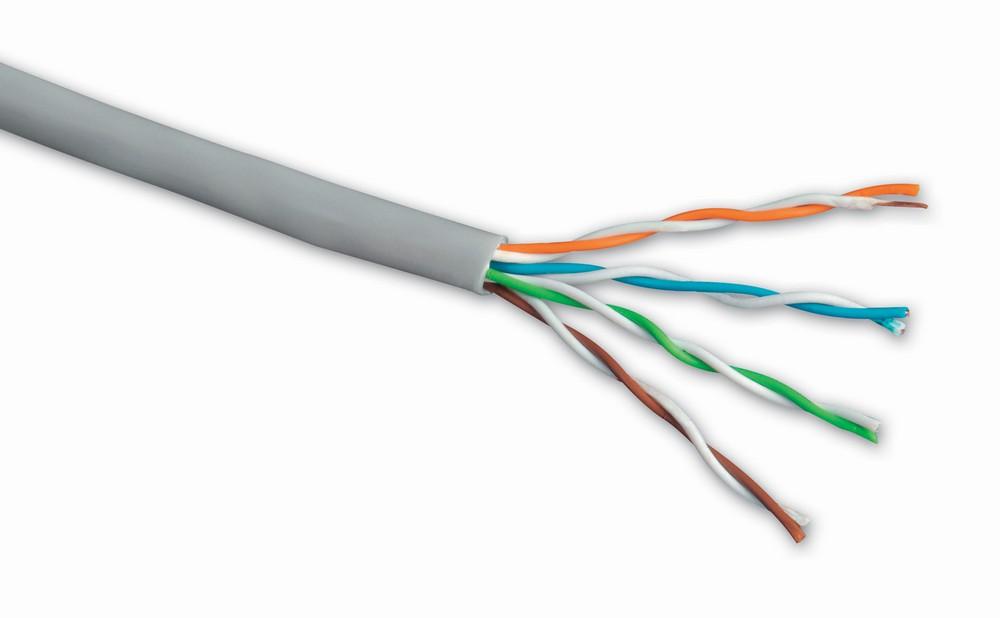 Síťový kabel Solarix FTP cat.5e, 500m Síťový kabel, FTP, cat.5e, PVC, drát, 500m, měděný, šedý, typ balení cívka 27655144
