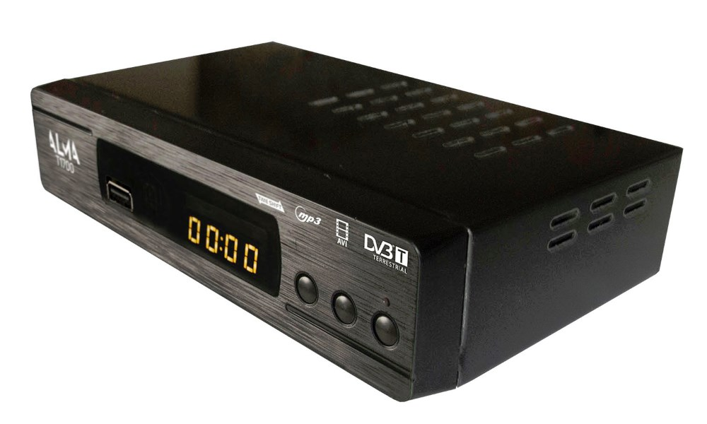 Set-top box ALMA T1700 Set-top box, DVB-T přijímač, MPEG2, MPEG4, USB, PVR, SCART DBTALS0125