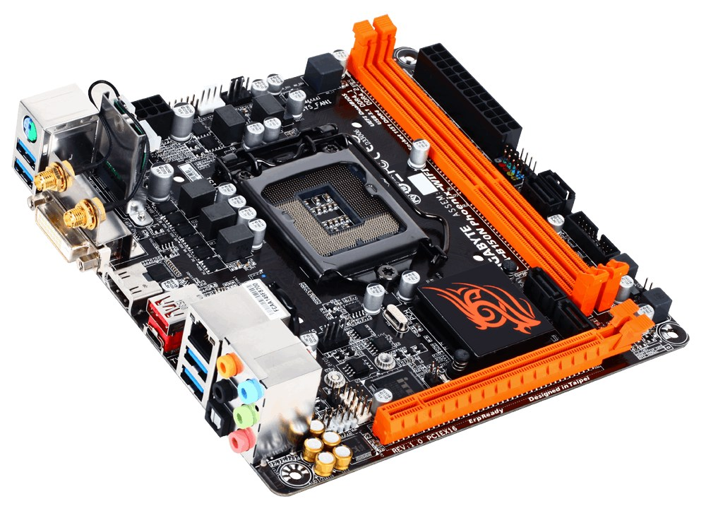 Základní deska GIGABYTE B150N Phoenix-WIFI Základní deska, Intel B150, LGA1151, 2xDDR4, 2133MHz, VGA, Wi-Fi, Mini-ITX GA-B150N Phoenix-WIF