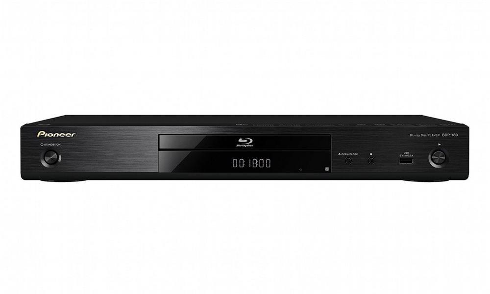 Blu-ray přehrávač PIONEER BDP-180-K Blu-ray přehrávač, BD, DVD, CD, HDMI, USB, LAN, černý BDP-180-K