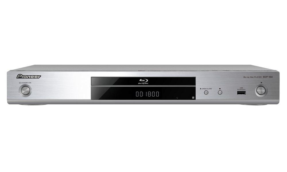 Blu-ray přehrávač PIONEER BDP-180-S Blu-ray přehrávač, BD, DVD, CD, HDMI, USB, LAN, stříbrný BDP-180-S