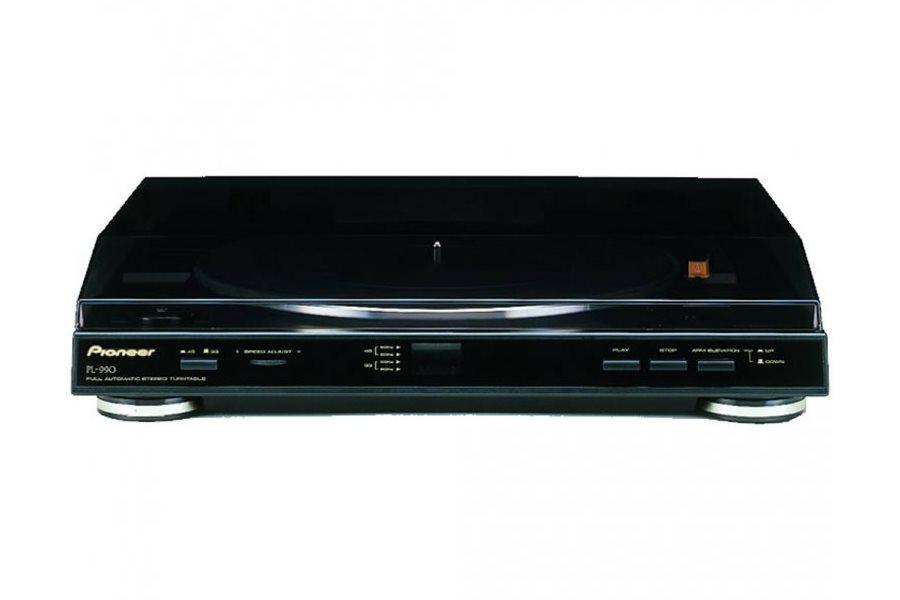 Gramofon PIONEER PL-990 Gramofon, automatizovaný, MM přenoska, černý PL-990