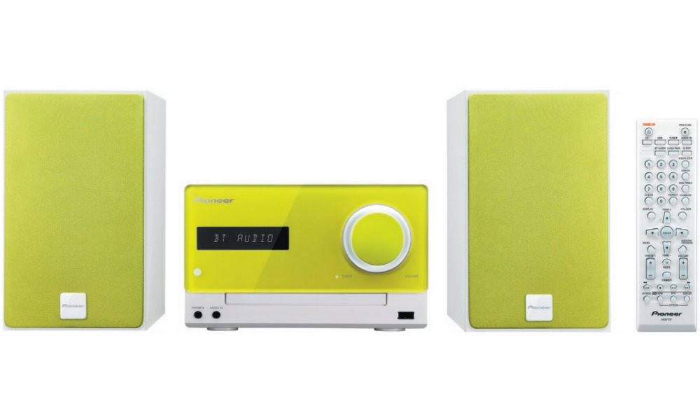 Mikrosystém PIONEER X-CM35-N Mikrosystém, 30W, CD, Bluetooth, NFC, zelený X-CM35-N