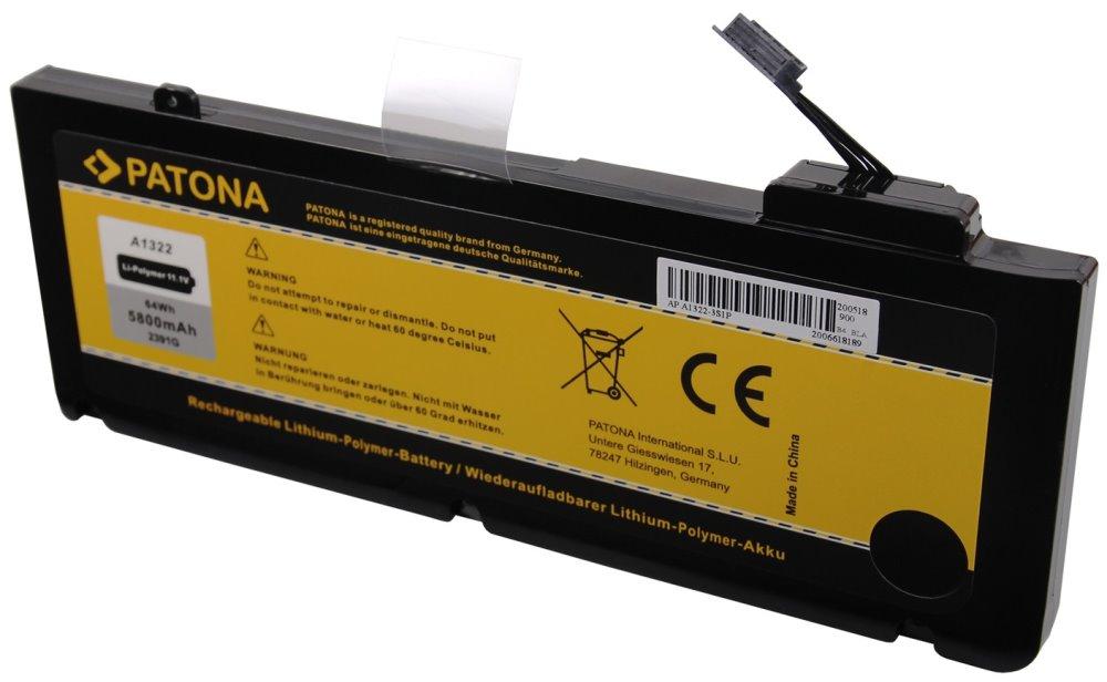 Baterie PATONA pro Apple 5800 mAh Baterie, pro notebook APPLE MacBook Pro 13, 5800 mAh, Li-Pol, 11,1 V PT2391