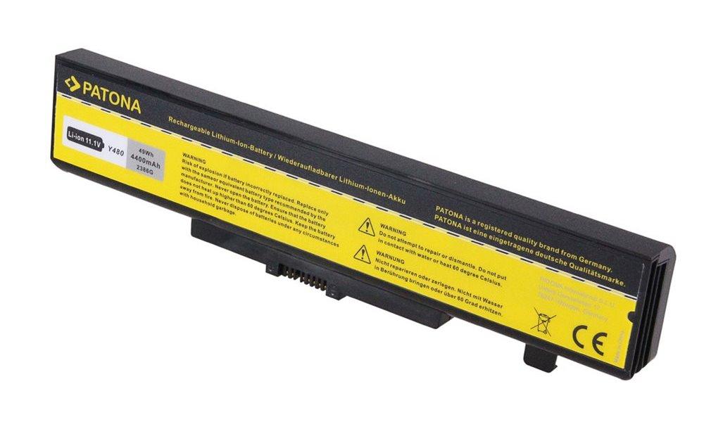 Baterie PATONA pro Lenovo 4400 mAh Baterie, pro notebook LENOVO IdeaPad G580, 4400 mAh, Li-Ion, 11,1 V PT2386