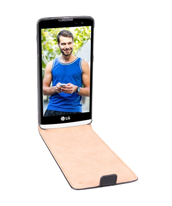Pouzdro PATONA pro LG Leon/ Leon 4G černé Pouzdro, pro mobilní telefon LG Leon/ Leon 4G, černé