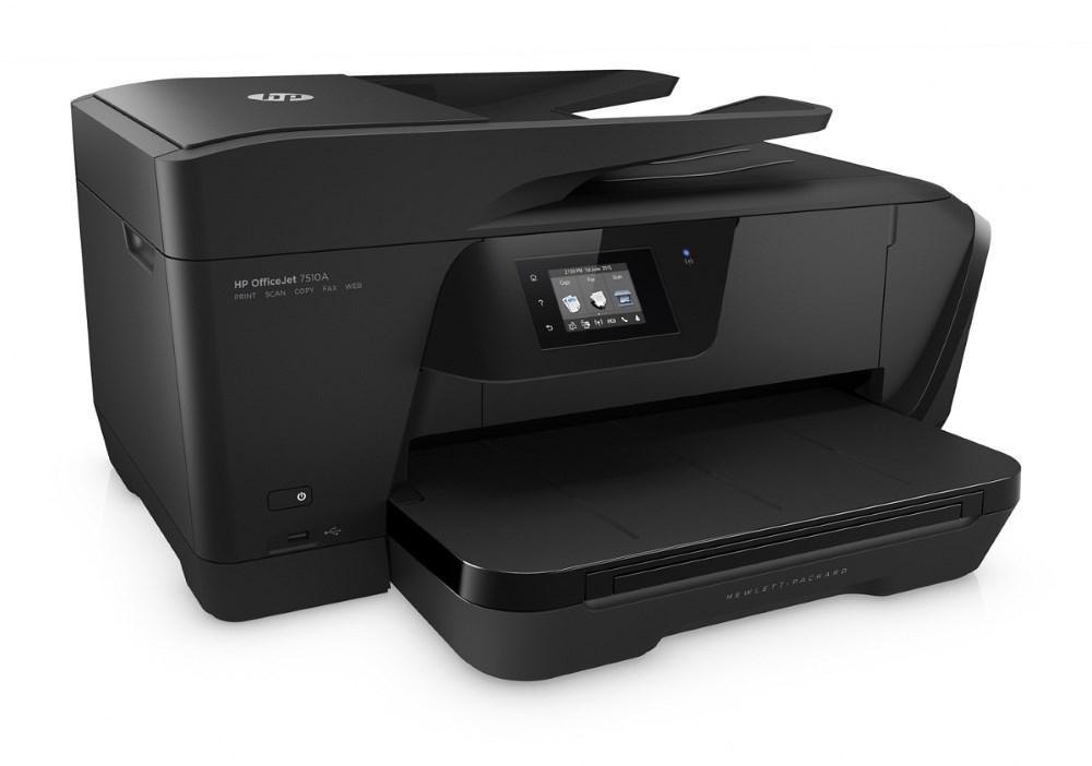 Multifunkční tiskárna HP OfficeJet AiO 7510 Wide Barevná multifunkční inkoustová tiskárna, A3+, 4800x1200, USB, LAN, WiFi, Fax, černá G3J47A