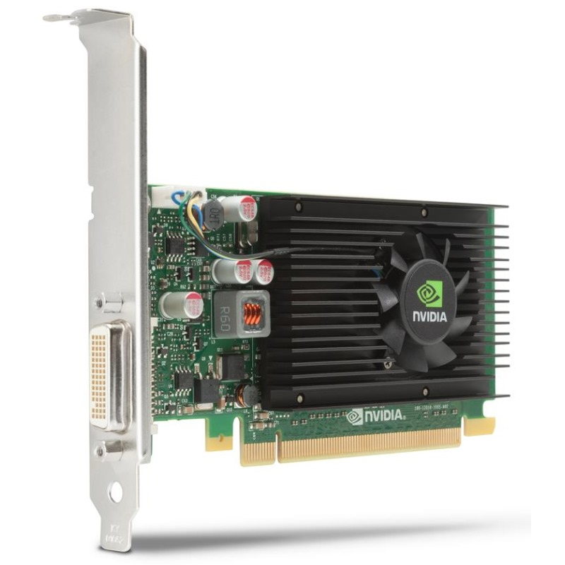 Grafická karta HP NVIDIA Graphics PLUS NVS 315 Grafická karta, PCI-E, 1GB, DMS 59 na 2x DVI, low profile E1U66AA
