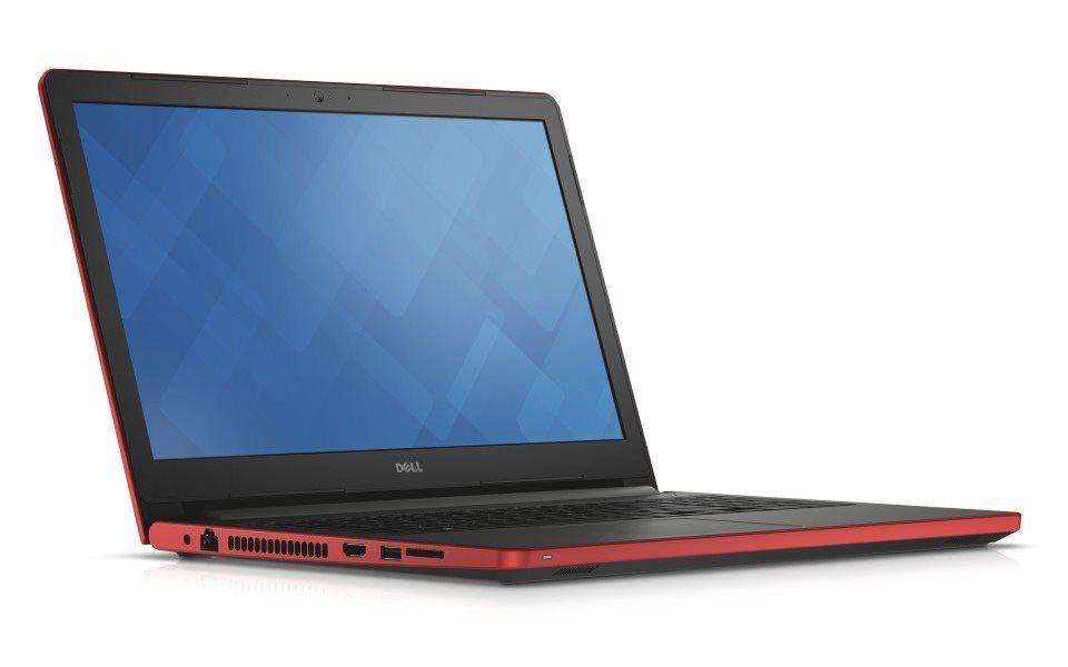 Notebook DELL Inspiron 17 5000 Notebook, i5-6200U, 8GB, 1TB, DVDRW, AMD R5 M335 2GB, 17.3 HD+, W10, červený, 2YNBD on-site N4-5759-N2-512R