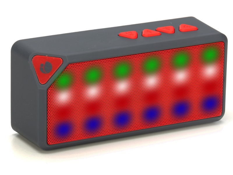 Reproduktory NGS REDROLLERFLASH Reproduktory, mono, Micro SD karta, 3W, FM rádio, USB REDROLLERFLASH