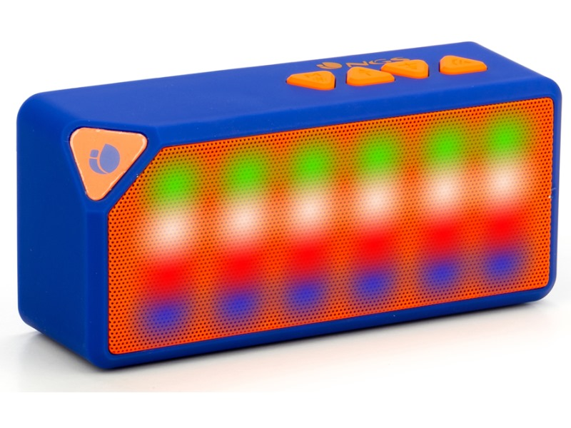 Reproduktory NGS BLUEROLLERFLASH Reproduktory, mono, Micro SD karta, 3W, FM rádio, USB BLUEROLLERFLASH