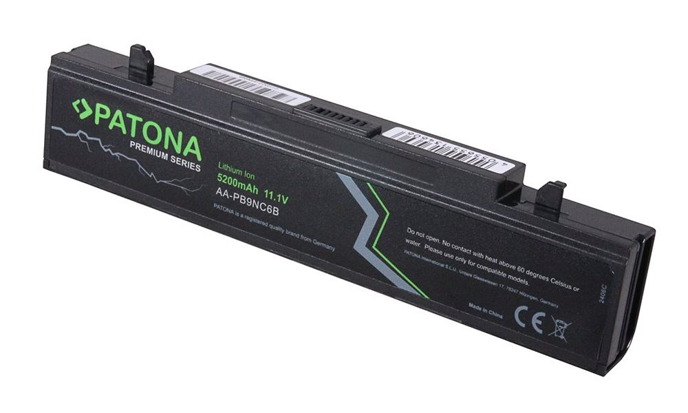 Baterie PATONA pro SAMSUNG R460 Baterie, pro notebook SAMSUNG R460, 5200mAh, Li-Ion, 11,1V, PREMIUM PT2406
