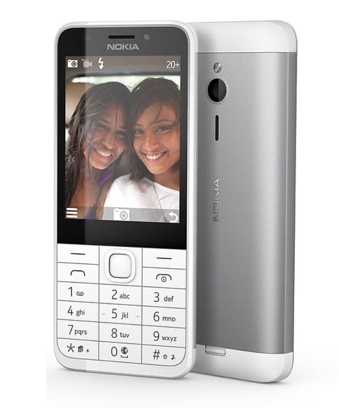 Mobilní telefon Nokia 230 Dual SIM bílý Mobilní telefon, 2,8, 16MB RAM, 2Mpx, bílý A00026951