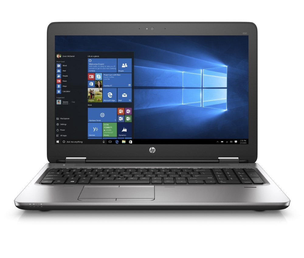 Notebook HP ProBook 650 G2 Notebook, 15,6 HD, i5-6200U, 4GB, 500GB, VGA, DP, RJ45, DVD, WIFi, BT, Win10 Pro downg. W7 V1C10EABCM