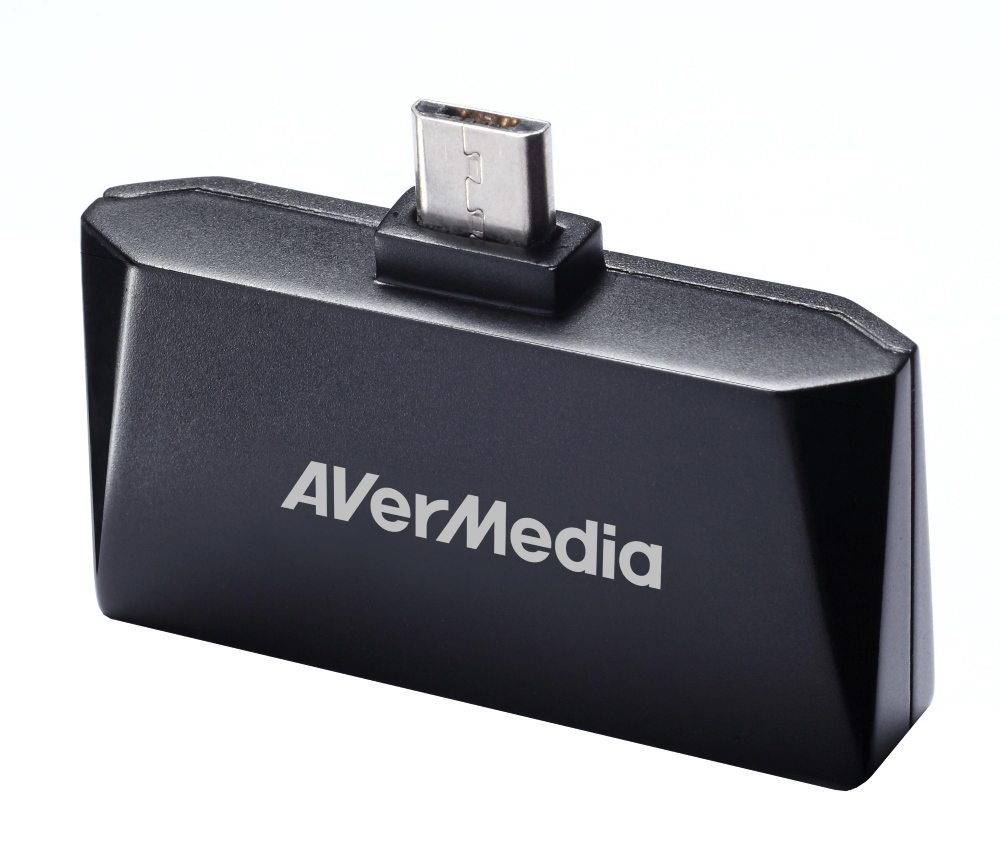 TV tuner AVerMedia AVerTV Mobile Android-T2 TV tuner, externí, pro tablety a telefony, Micro USB, DVB-T, anténa