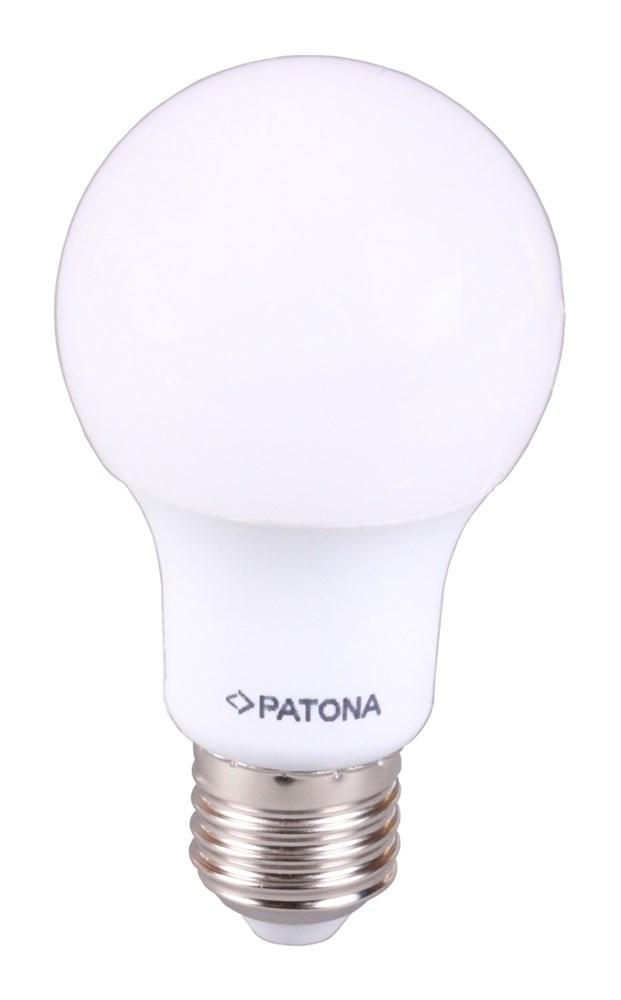 LED žárovka PATONA E27 7W teplá bílá LED žárovka, 230V, A60, SMD5630, 7W, teplá bílá, 580lm PT4119