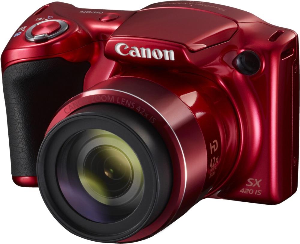 Digitální fotoaparát Canon PowerShot SX420 červený Digitální fotoaparát, kompaktní, 20 MPix, 42x zoom, 3 LCD, červený 1069C002AA