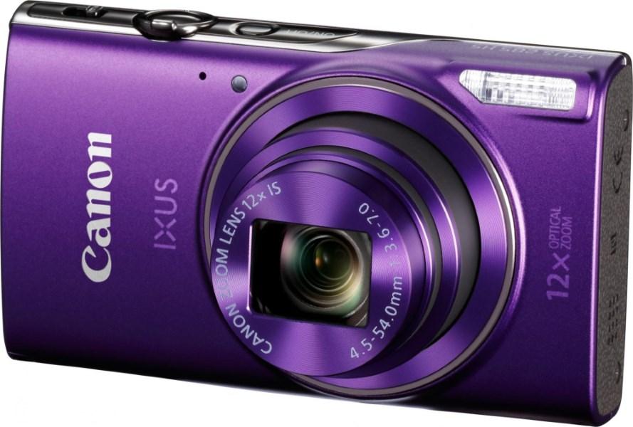 Digitální fotoaparát Canon IXUS 285 fialový Digitální fotoaparát, kompaktní, 20 MPix, 12 x zoom, 3 LCD, GPS, Wi-Fi, fialový 1082C001AA