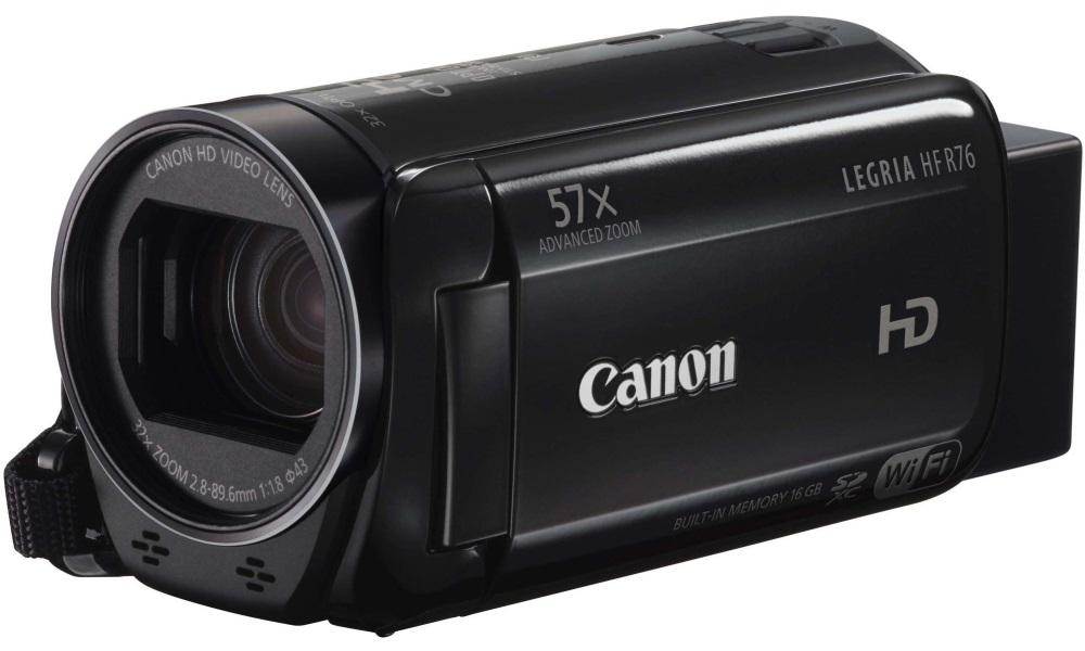Videokamera Canon LEGRIA HF R76 Videokamera, Full HD, 57x zoom, Wi-Fi, černá 1237C008AA