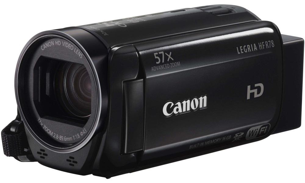 Videokamera Canon LEGRIA HF R78 Videokamera, Full HD, 57x zoom, Wi-Fi, černá 1237C018