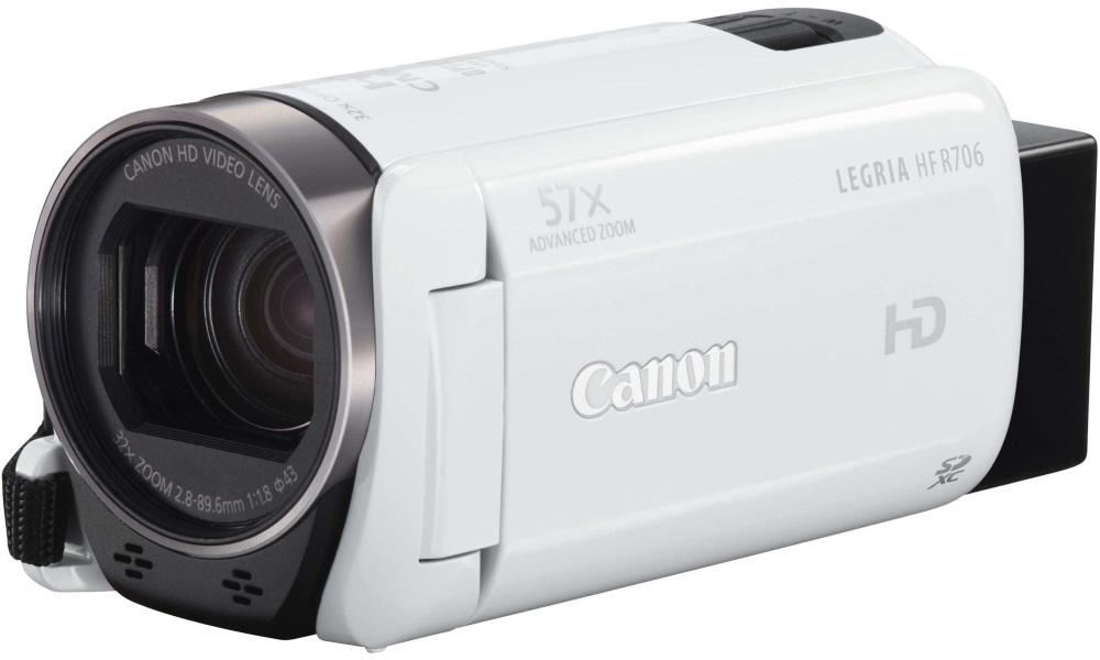 Videokamera Canon LEGRIA HF R706 bílá Videokamera, Full HD, 57x zoom, bílá 1238C017AA