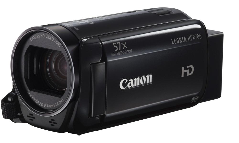 Videokamera Canon LEGRIA HF R706 černá Videokamera, Full HD, 57x zoom, černá 1238C011AA