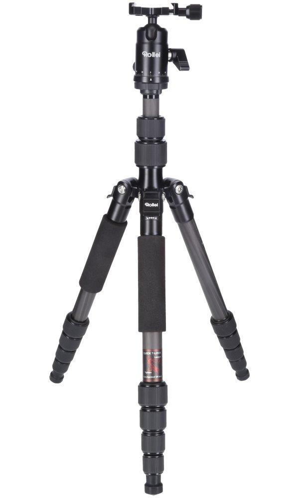 Stativ Rollei Compact Traveler No 1 Carbon černý Stativ, zátěž 8kg, vytažený 142 cm, Karbon, černý 22578