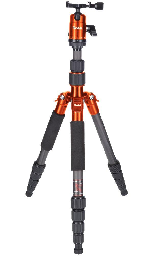 Stativ Rollei Compact Traveler No 1 Carbon Stativ, zátěž 8kg, vytažený 142 cm, Karbon, oranžový 22579