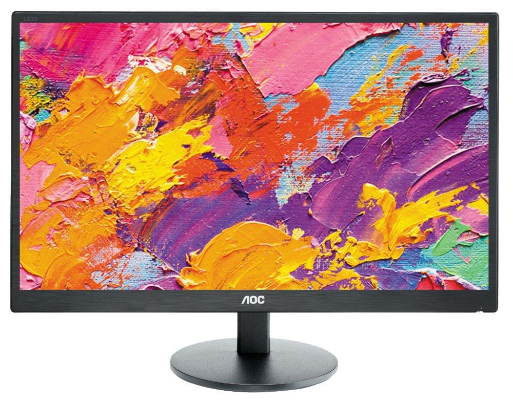 LED monitor AOC E2470SWH 23,6 LED monitor, 23,6, 1920x1080, TN, 16:9, 1ms, 250cd/m2, HDMI, DVI, D-SUB, Repro, VESA 100x100 E2470SWH