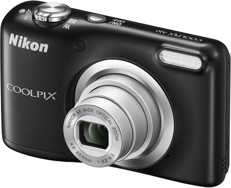 Digitální fotoaparát Nikon Coolpix A10 černý Digitální fotoaparát, 16,1 MPix, 5x zoom, černý VNA981E1