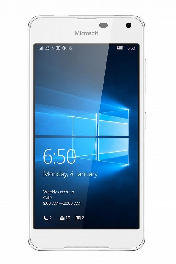 Mobilní telefon Microsoft Lumia 650 Mobilní telefon, dotykový, 5 HD OLED, 1GB RAM, 16GB, LTE, Win10, bílý A00026947