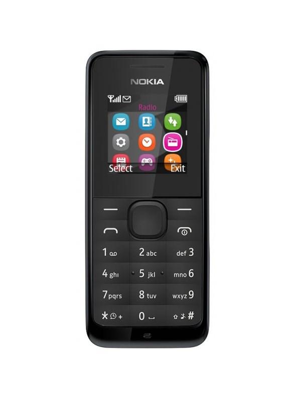 Mobilní telefon Nokia 105 černý Mobilní telefon, 1,4, černá A00025876