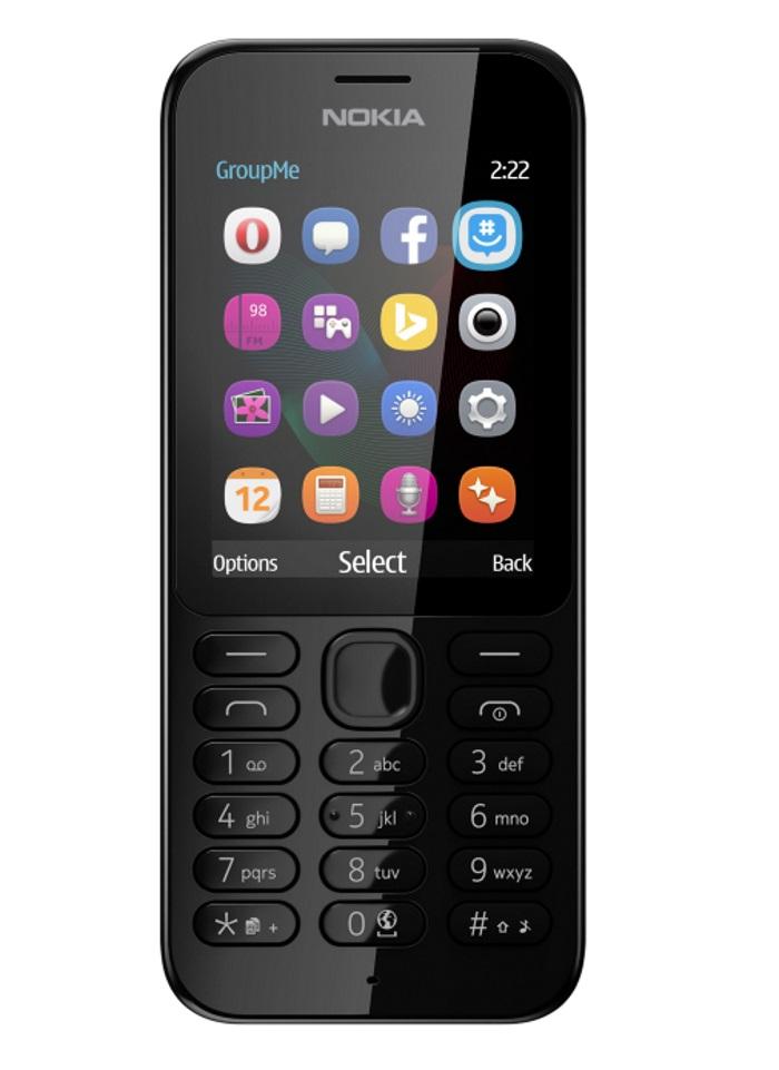 Mobilní telefon Nokia 222 Dual SIM černý Mobilní telefon, 2,4, 16MB RAM, 2.0Mpix, DualSIM, černý A00026337