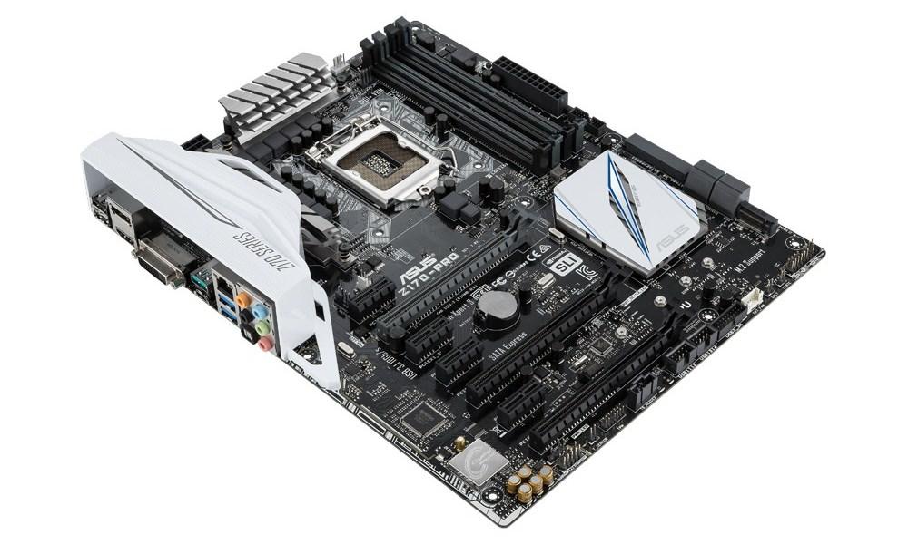 Základní deska ASUS Z170-PRO Základní deska, Intel Z170, LGA1151, DDR4 3866 OC MHz, M.2, USB3.1, ATX 90MB0M10-M0EAY0