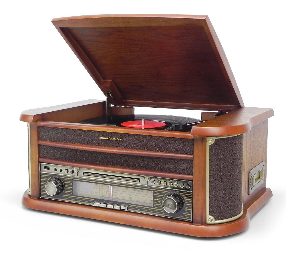 Gramofon Soundmaster NR540 Gramofon, USB, CD-RW, MP3, retro design NR540