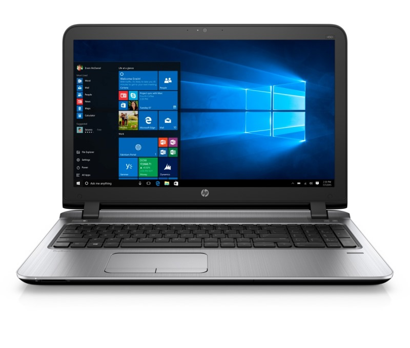 Notebook HP ProBook 450 G3 Notebook, 15.6 HD, i3-6100U, 4GB, 500GB, DVDRW, ac, BT, FpR, backlit keyb, Win 10 Pro downgraded T6R07ESBCM