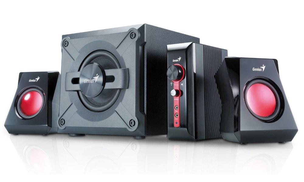 Reproduktory Genius GX Gaming SW-G 2.1 1250 Reproduktory, 2.1, 38 W, černé - OPRAVENÉ REPG10827V1