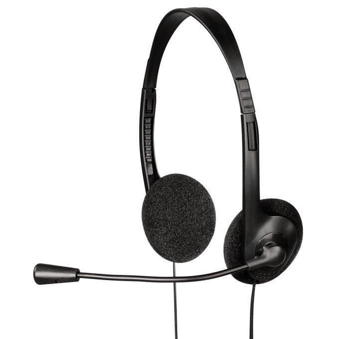 Headset Hama headset HS-101 černý Headset, drátová Sluchátka, + mikrofon, 2x 3,5 mm jack, černý