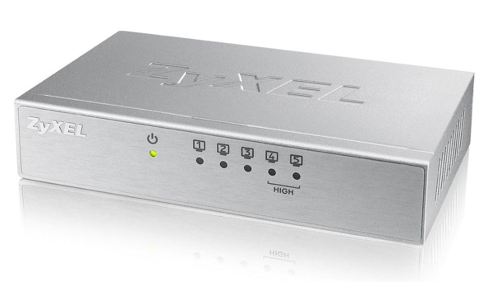 Switch ZyXEL ES-105A Switch, 5 x 10/100Mbps, 2xQoS, kovový, 5W napájení ES-105AV3-EU0101F
