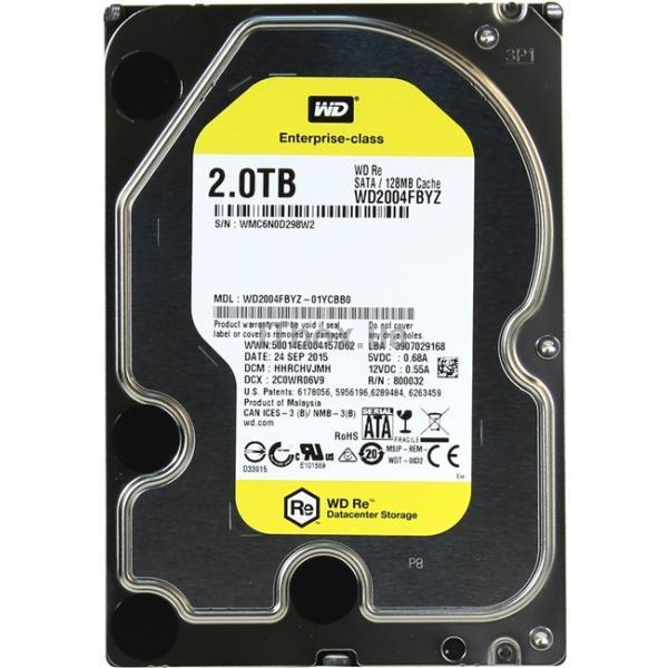 Pevný disk WD 2TB HDD RE WD2004FBYZ Pevný disk, SATA600, Interní 3,5, 7200rpm, RAID, 128MB WD2004FBYZ
