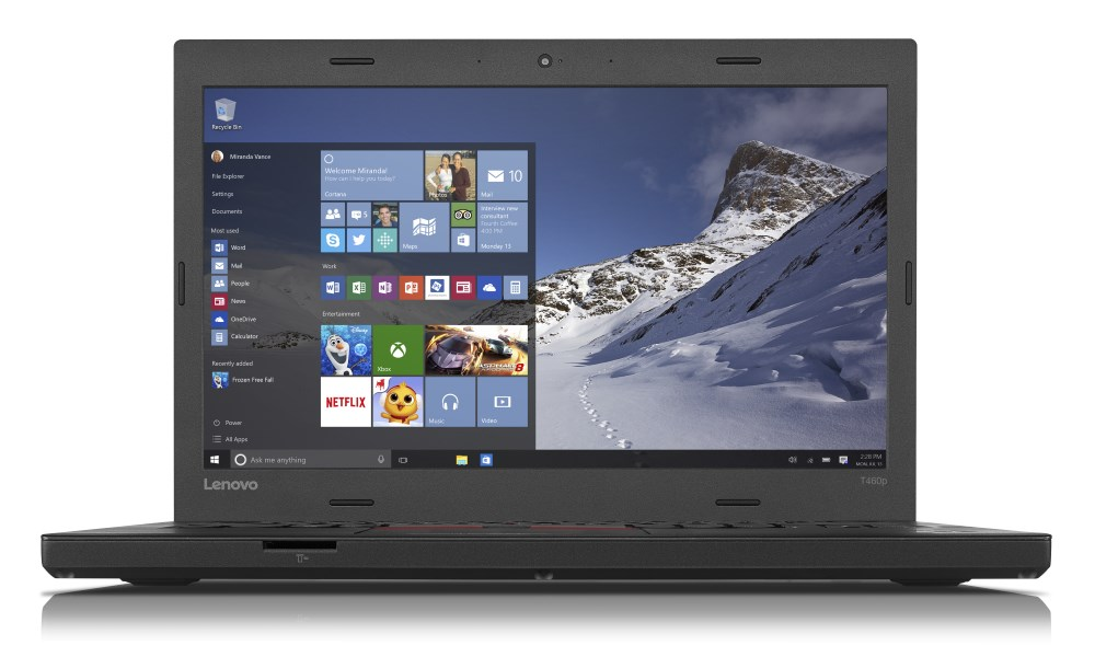 Notebook Lenovo ThinkPad T460p Notebook, i5-6440HQ, 8GB, 192GB SSD, 14 FHD IPS, Intel HD 530, W7P+W10P 64bit, 3yOnSite 20FW000EMC
