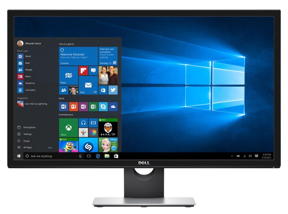 LED monitor DELL S2817Q UltraHD LED monitor, 28, 16:9, 4K 3840x2160, TN, 1000:1, 2ms, 2x USB, DP, mDP, 2xHDMI, černý, 3YNBD on-site 210-AICO
